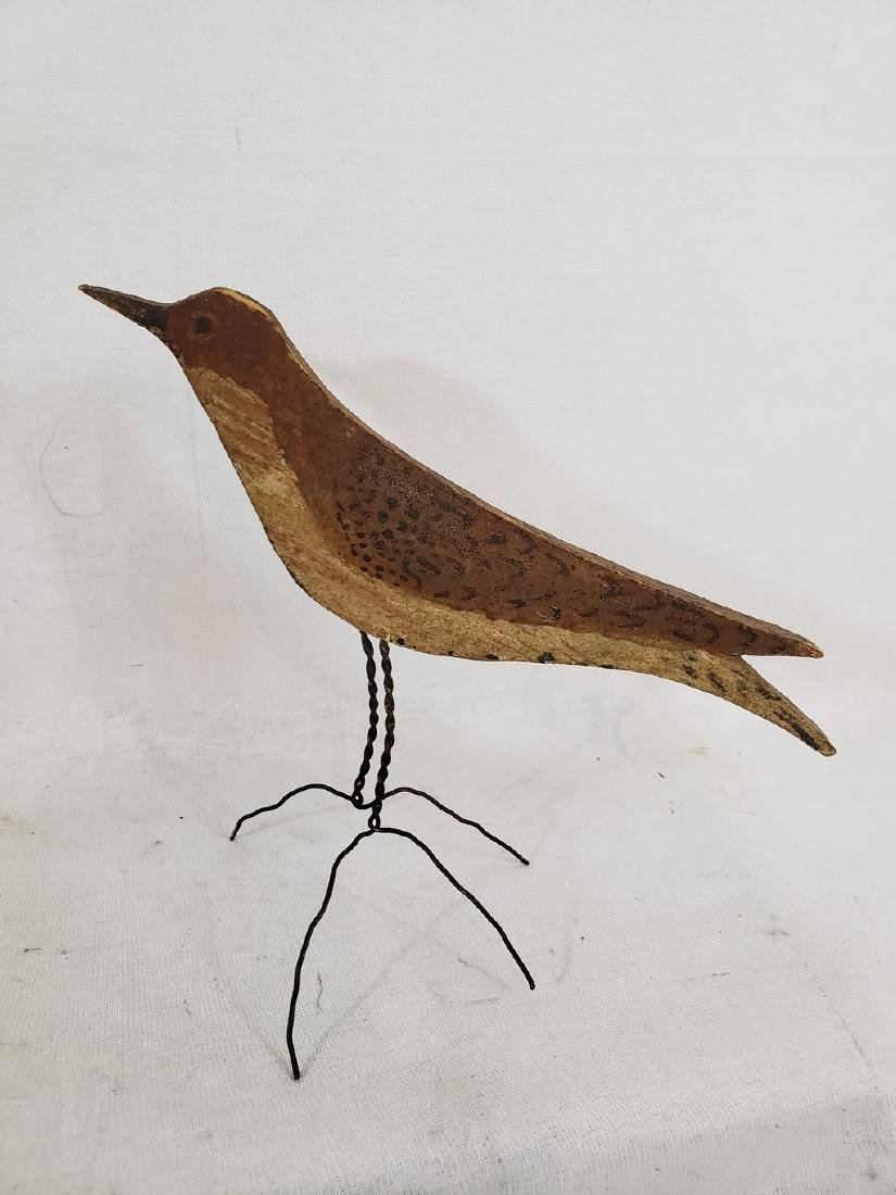 Flat carved and painted thrush ca 1920's