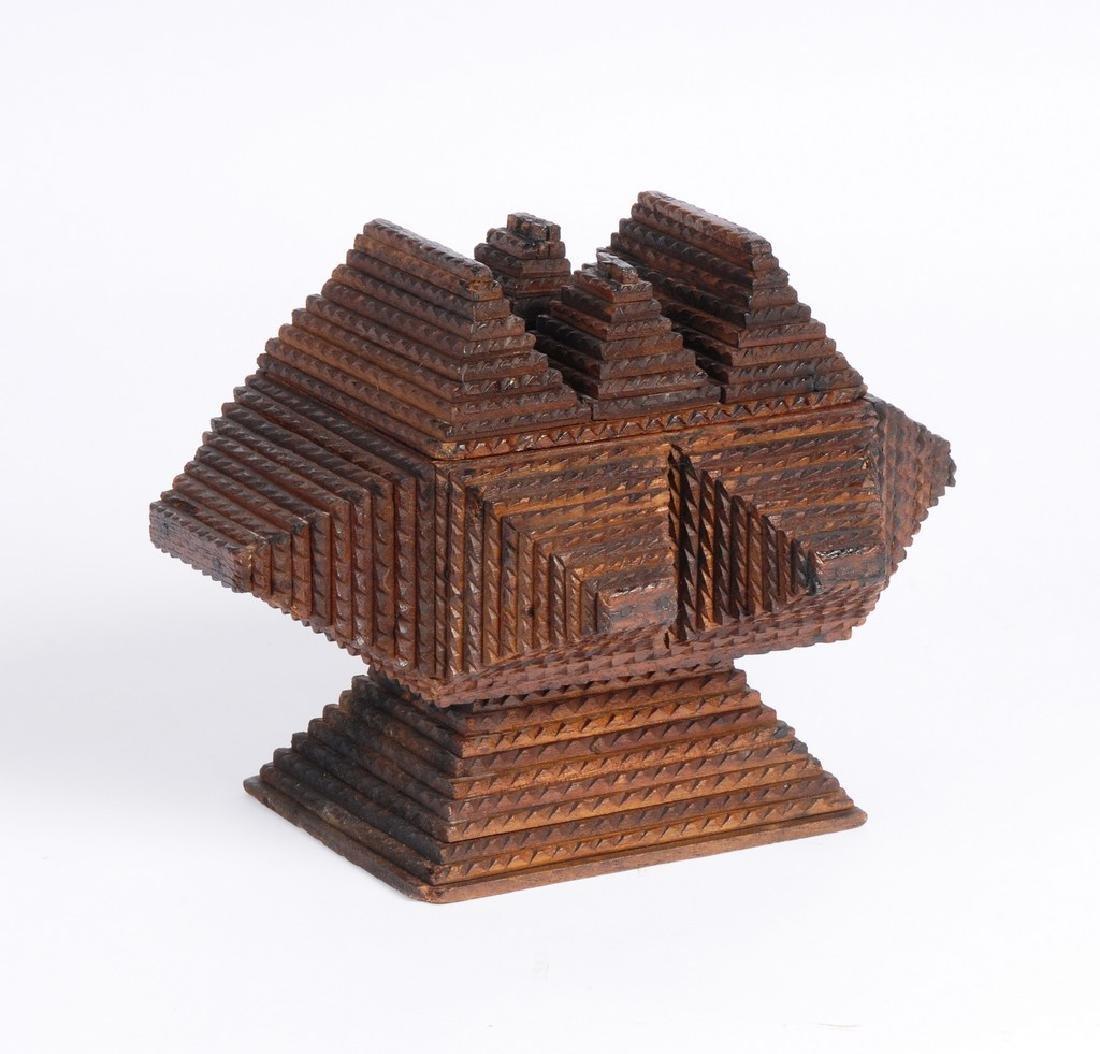Tramp Art Pedestal Box