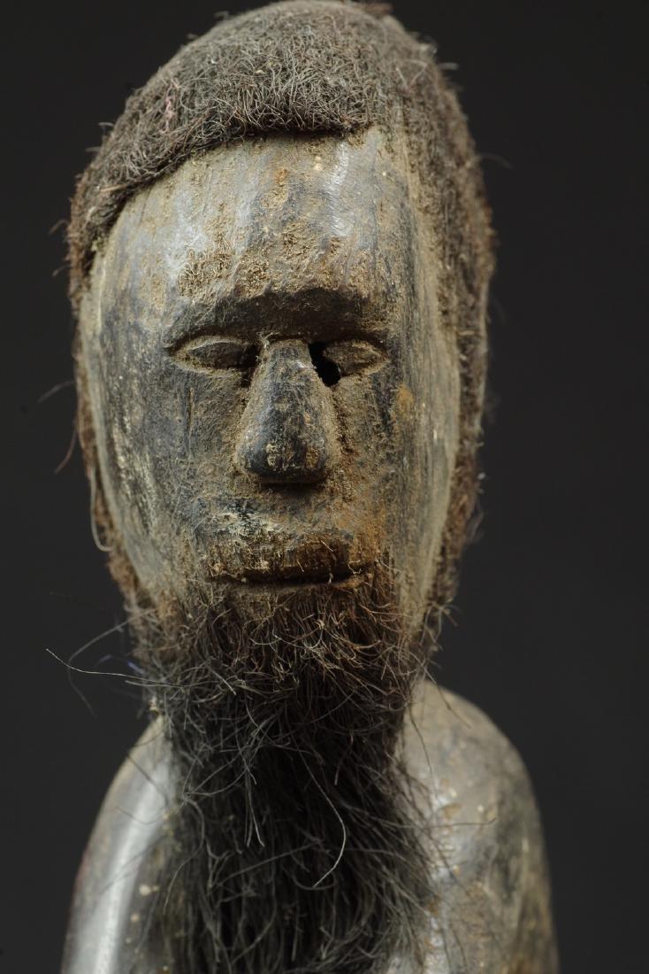 Ancestor figure with hair and beard - 10