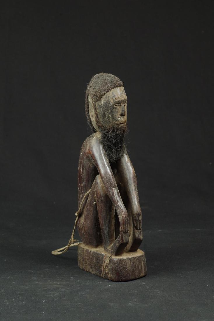 Ancestor figure with hair and beard