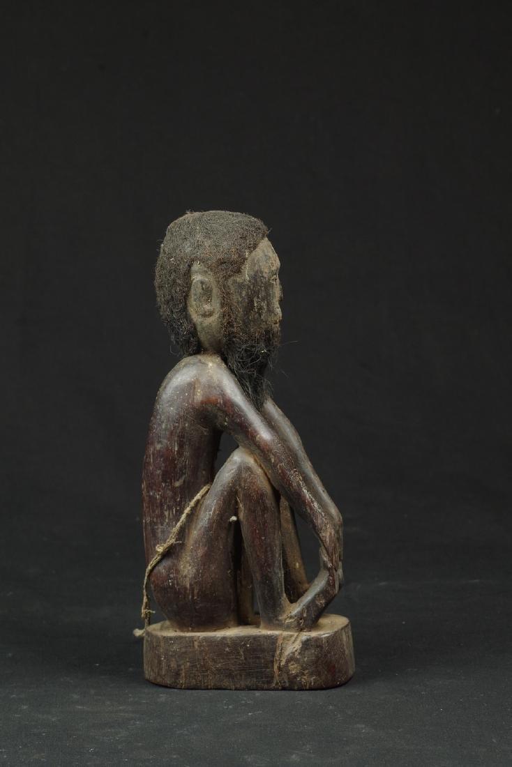 Ancestor figure with hair and beard - 2