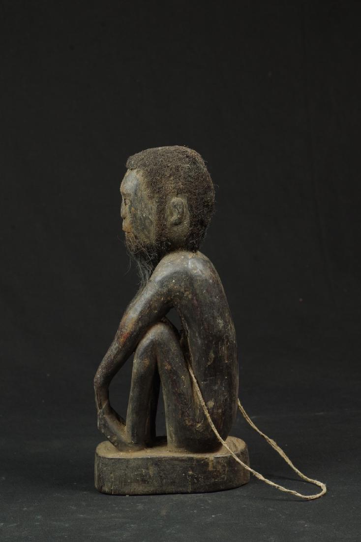 Ancestor figure with hair and beard - 4