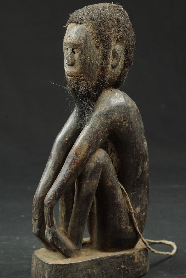 Ancestor figure with hair and beard - 6