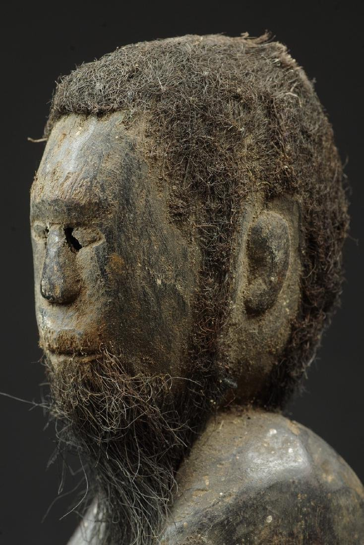 Ancestor figure with hair and beard - 7