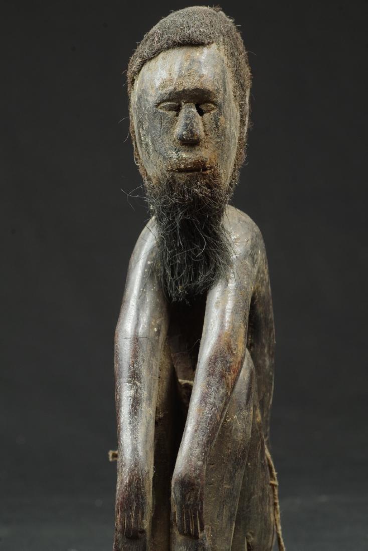 Ancestor figure with hair and beard - 8