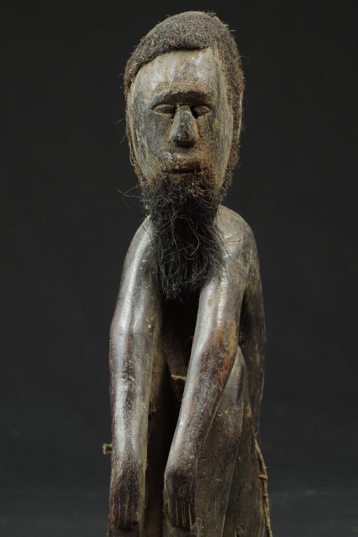 Ancestor figure with hair and beard - 9