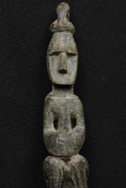 Pair of horn spoons carved as ancestors - 10