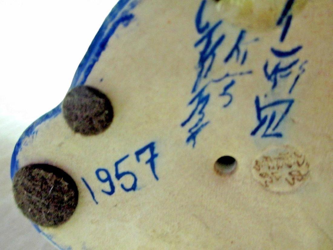 Vintage Satsuma Moriage Maneki Neko Beckoning Cat - 8