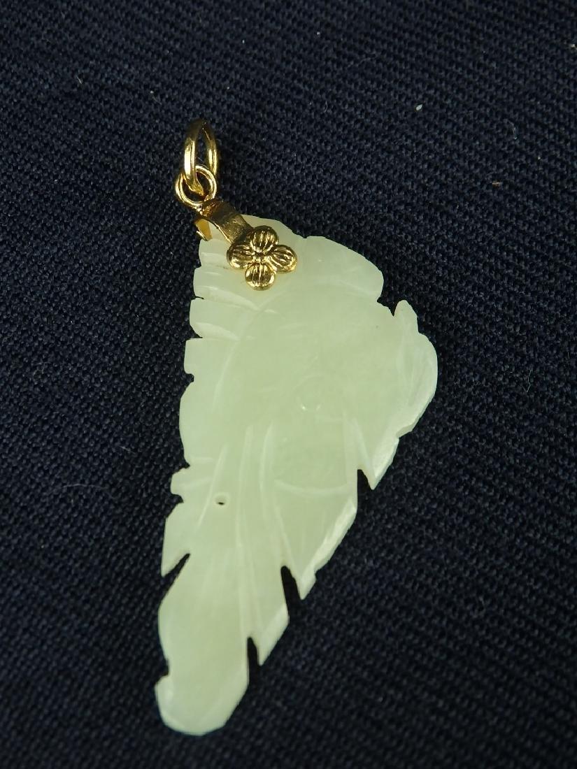 Antique lot of 4 hard stone pendant ornaments - 4