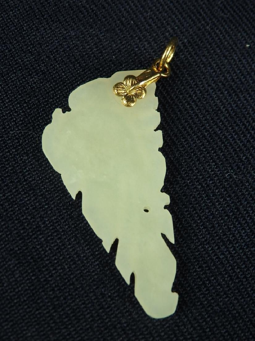 Antique lot of 4 hard stone pendant ornaments - 5