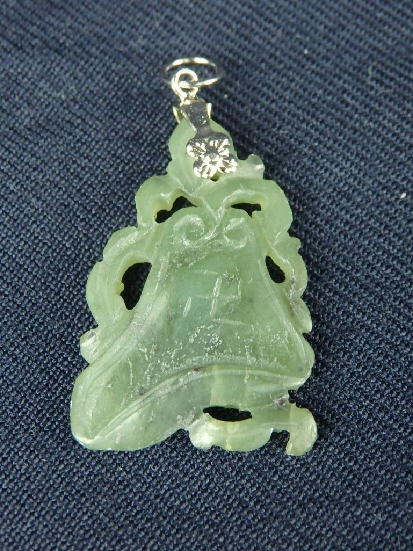 Antique lot of 4 hard stone pendant ornaments - 6