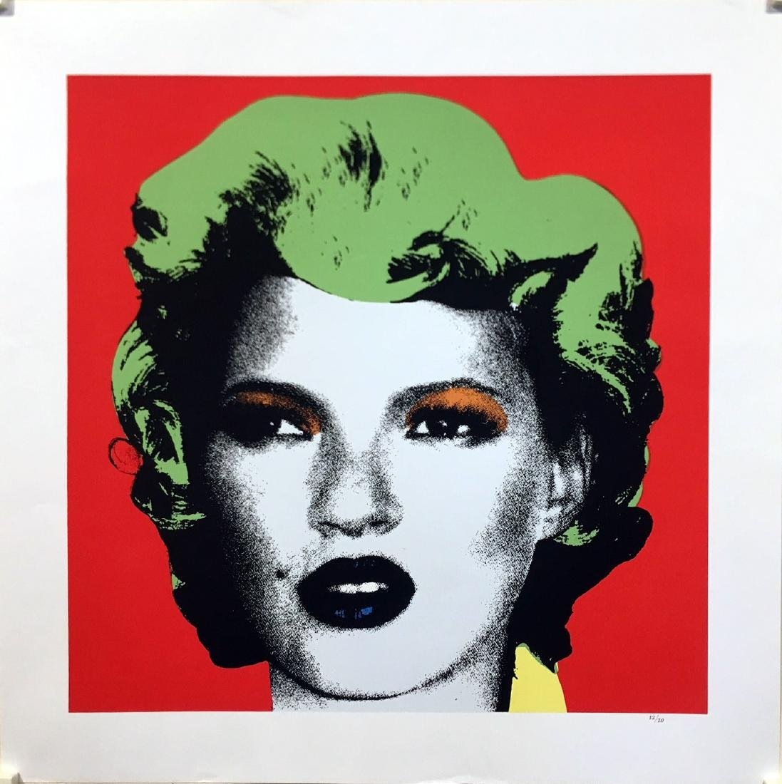 Kate Moss (Green Hair) Limited Edition After Banksy