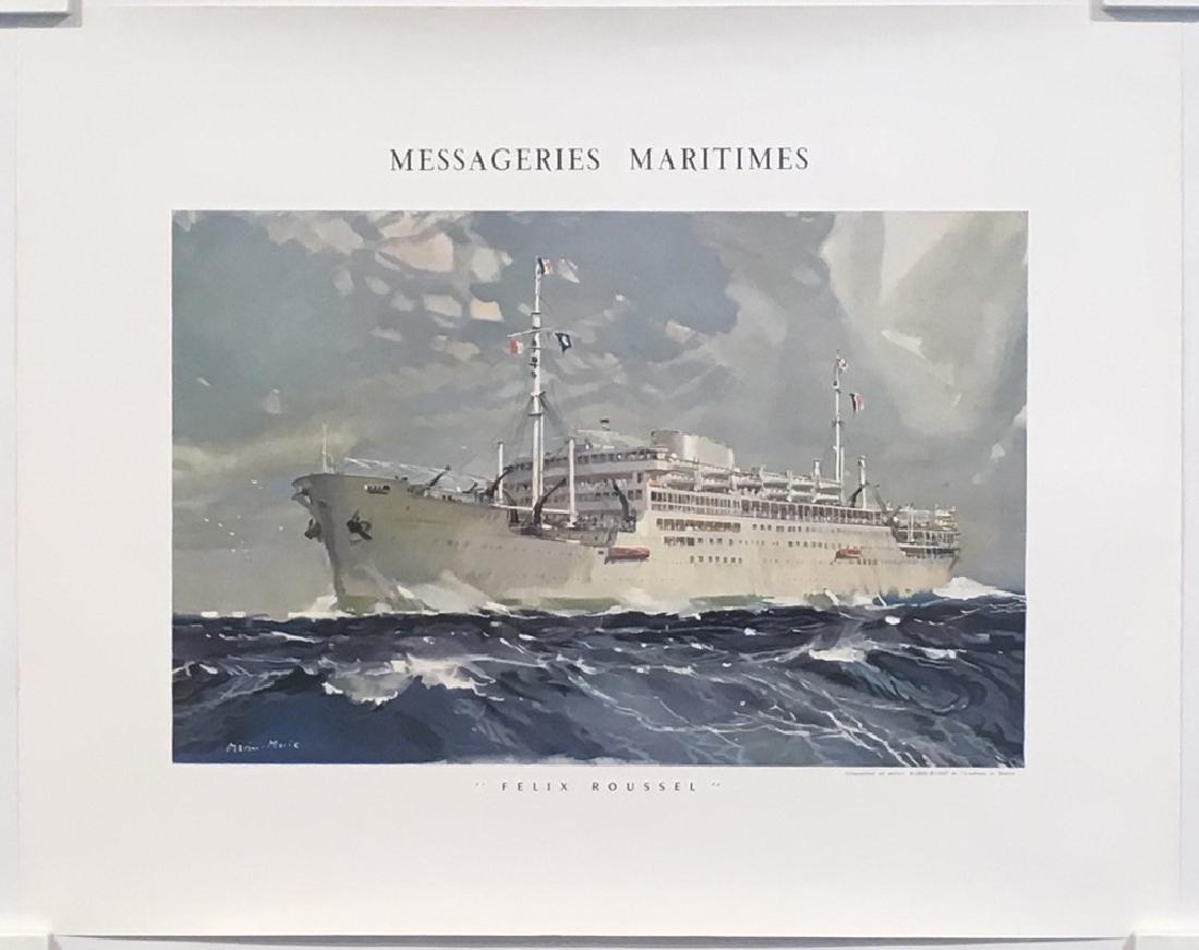 Messageries Maritimes Felix Roussel Original Vintage