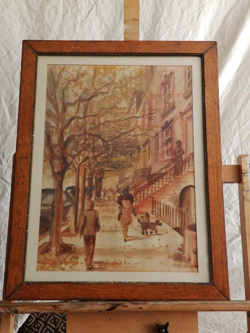 NEW YORK, BROWNSTONE STREET' Listed DB Hawbecker