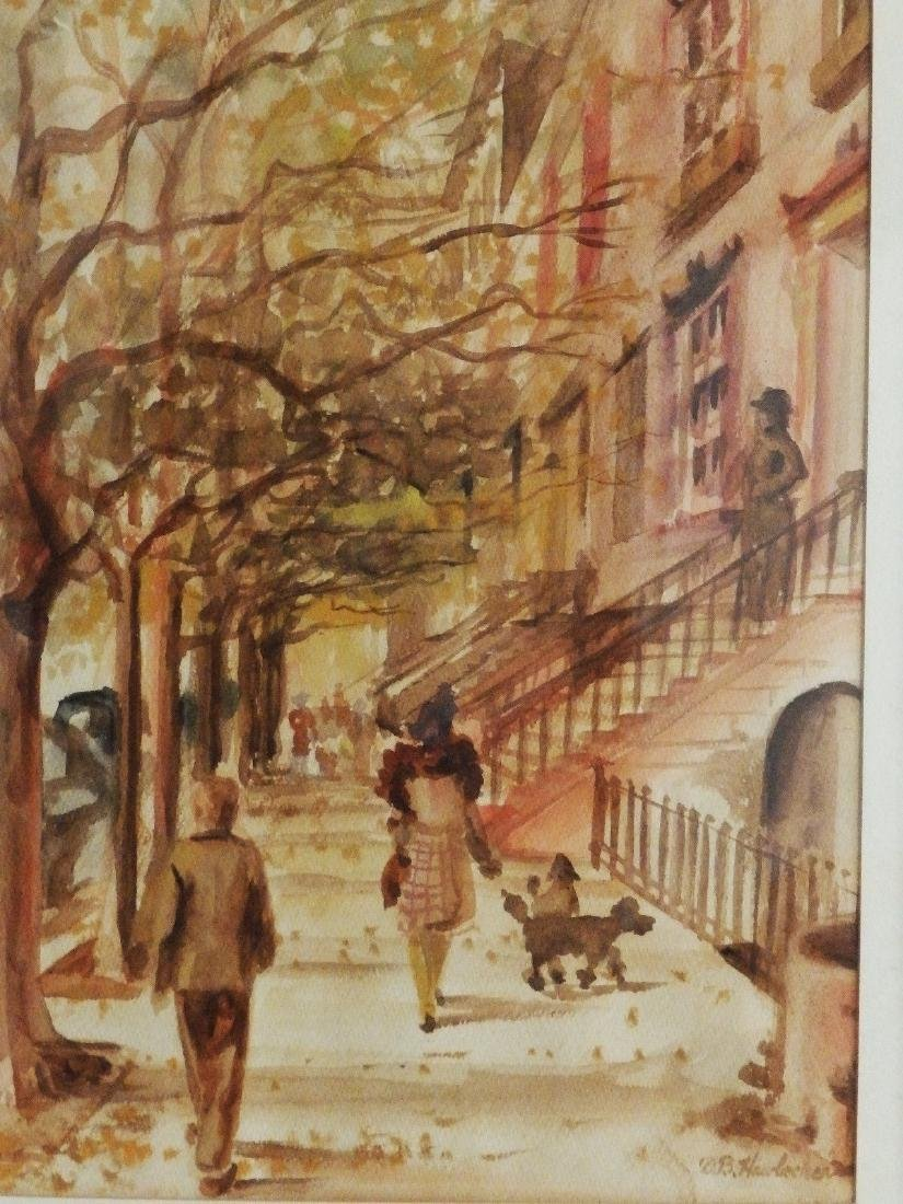 NEW YORK, BROWNSTONE STREET' Listed DB Hawbecker - 2