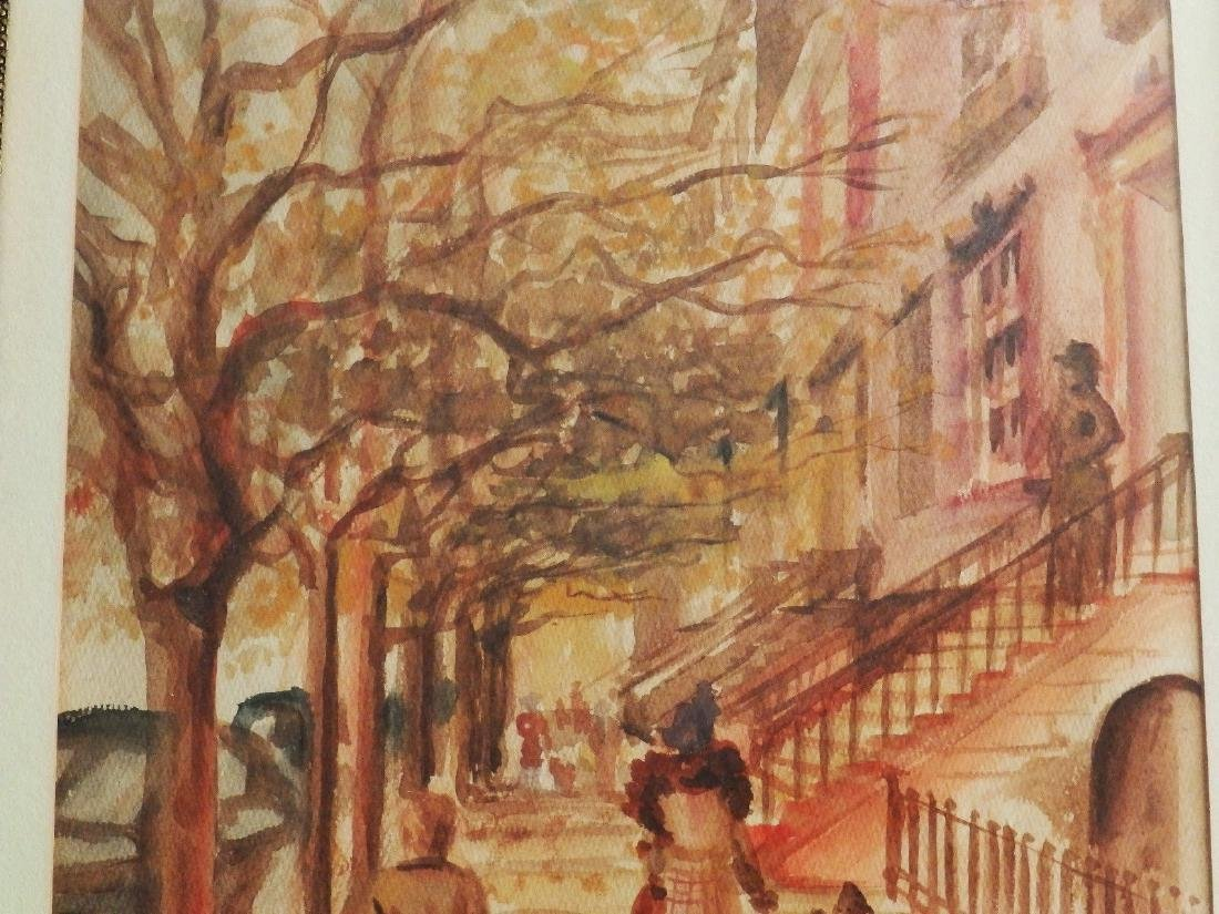 NEW YORK, BROWNSTONE STREET' Listed DB Hawbecker - 5