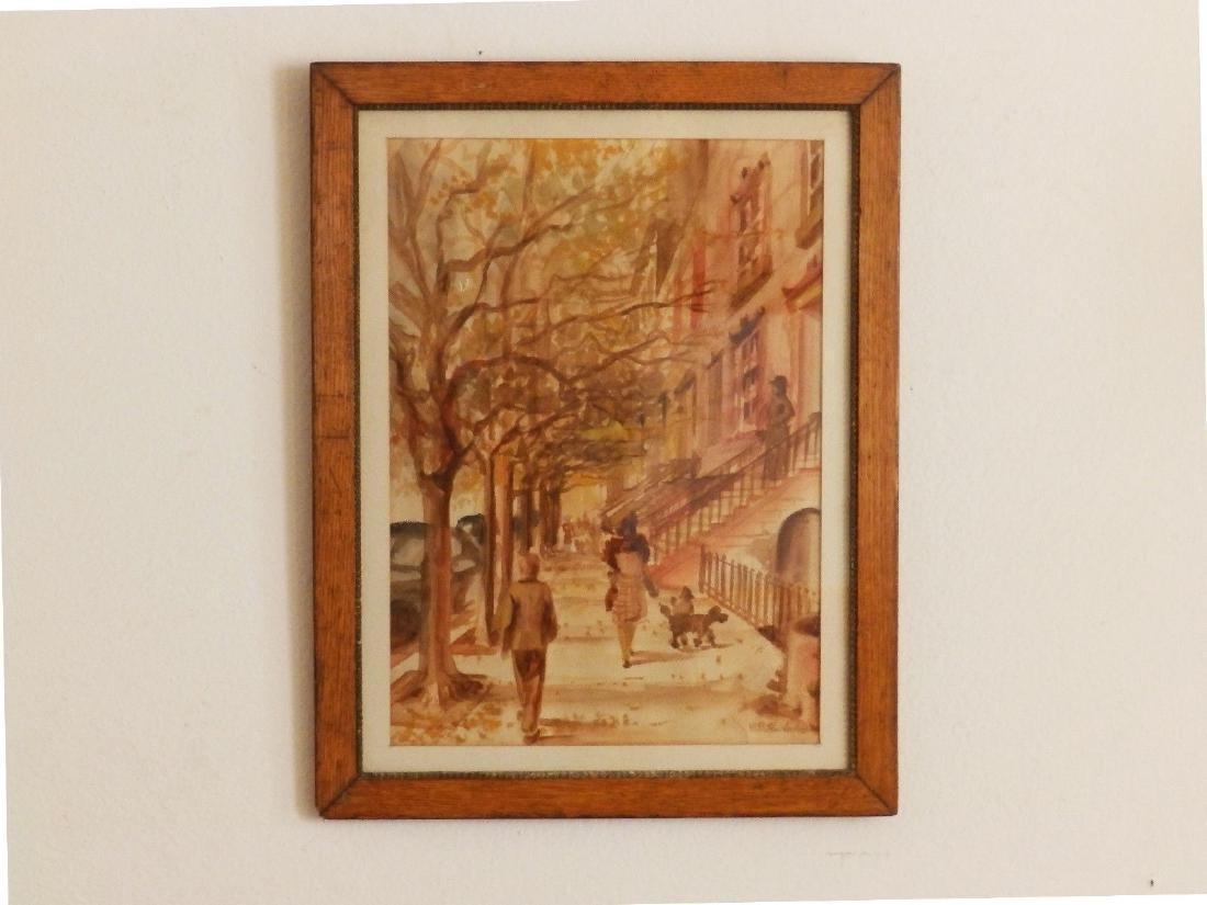 NEW YORK, BROWNSTONE STREET' Listed DB Hawbecker - 6