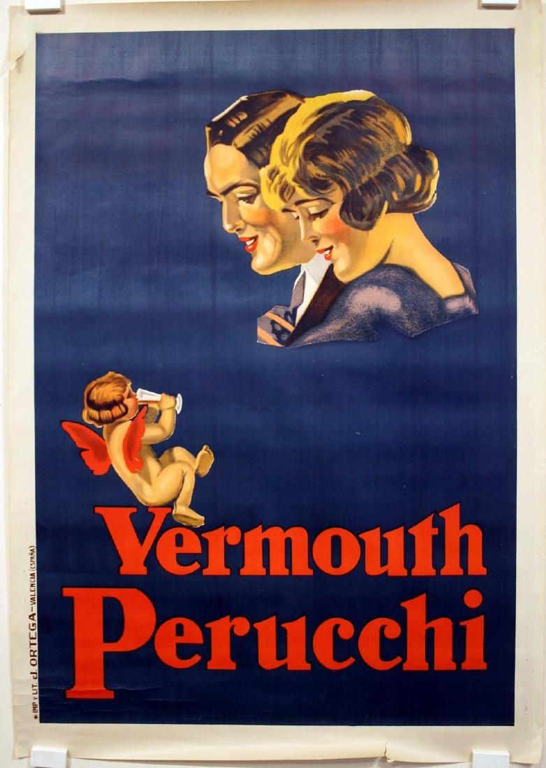Vermouth Perucchi Original Vintage Liquor Poster
