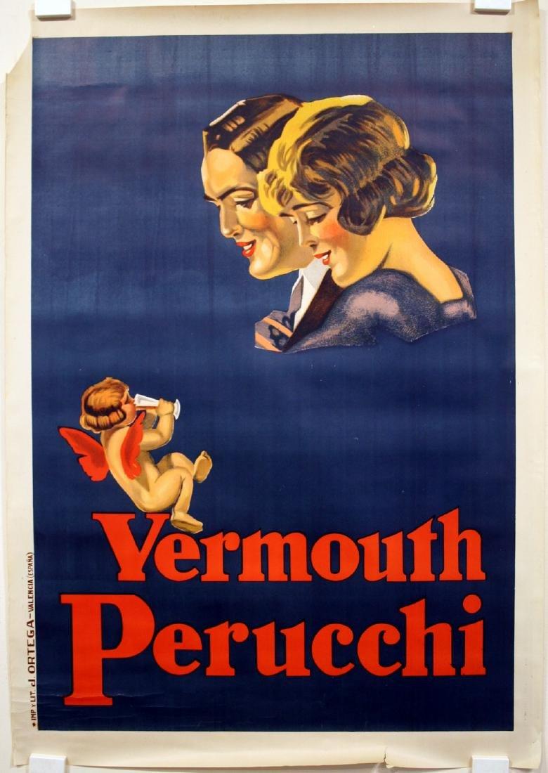 Vermouth Perucchi Original Vintage Liquor Poster - 3