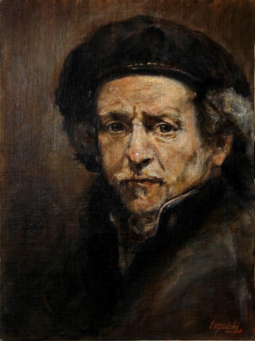 Darko Topalski Painting Rembrandt after Rembrandt