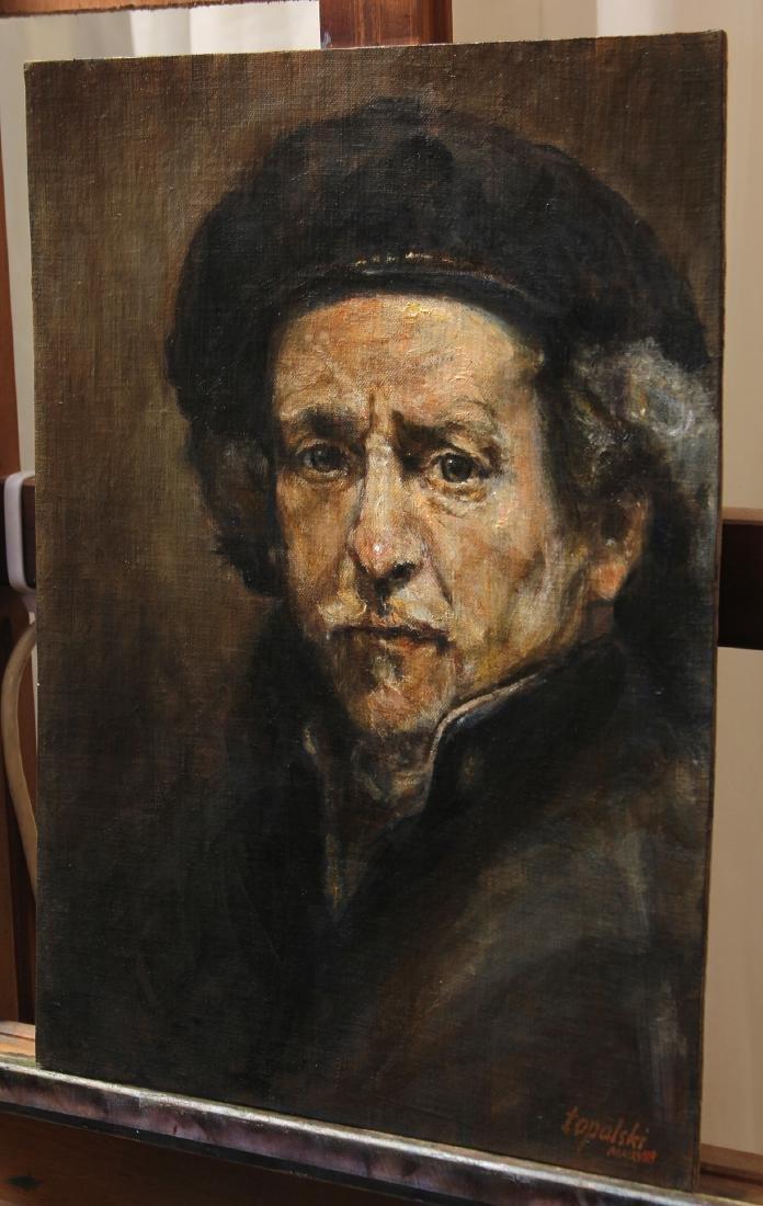 Darko Topalski Painting Rembrandt after Rembrandt - 2