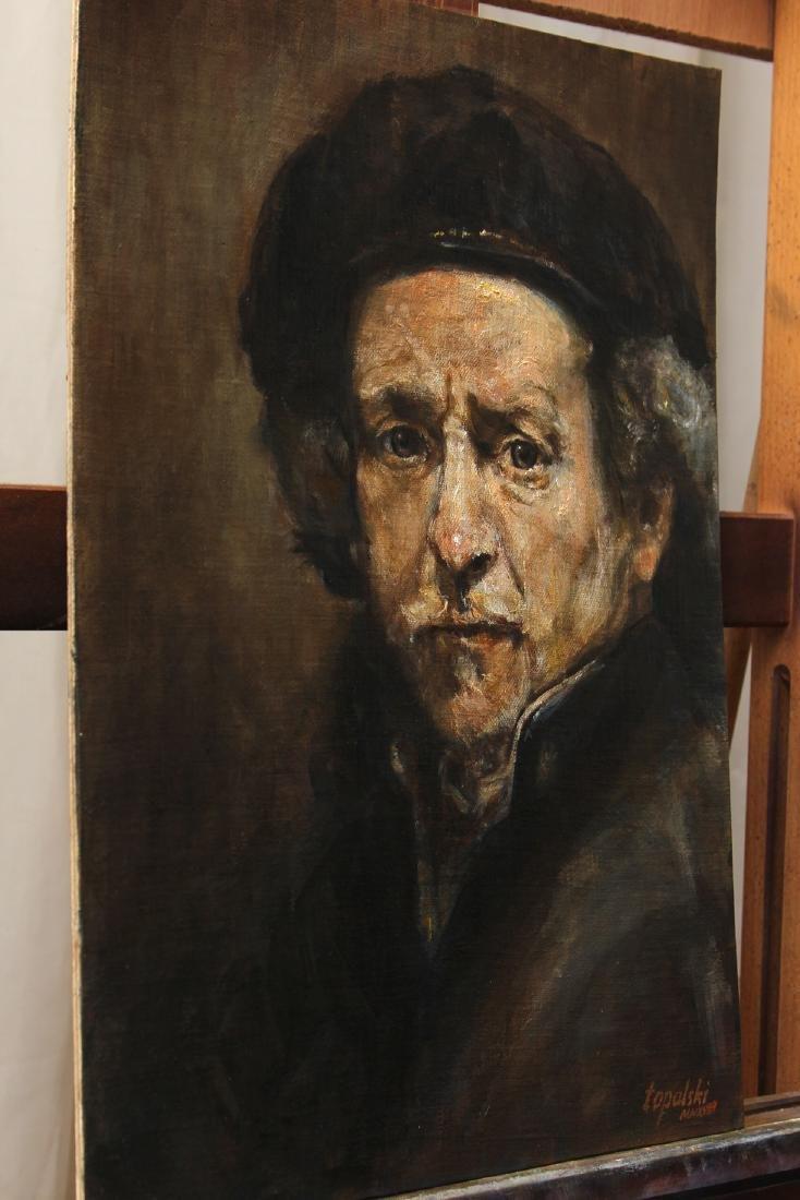 Darko Topalski Painting Rembrandt after Rembrandt - 3