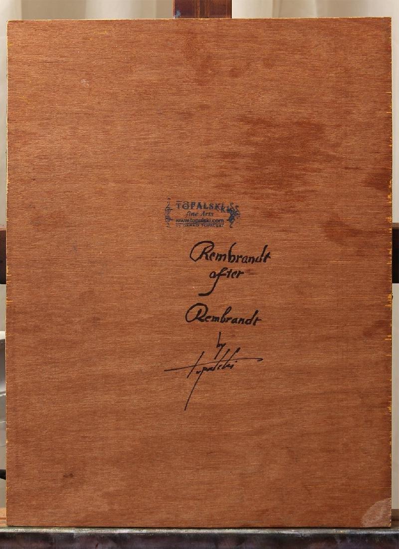 Darko Topalski Painting Rembrandt after Rembrandt - 5