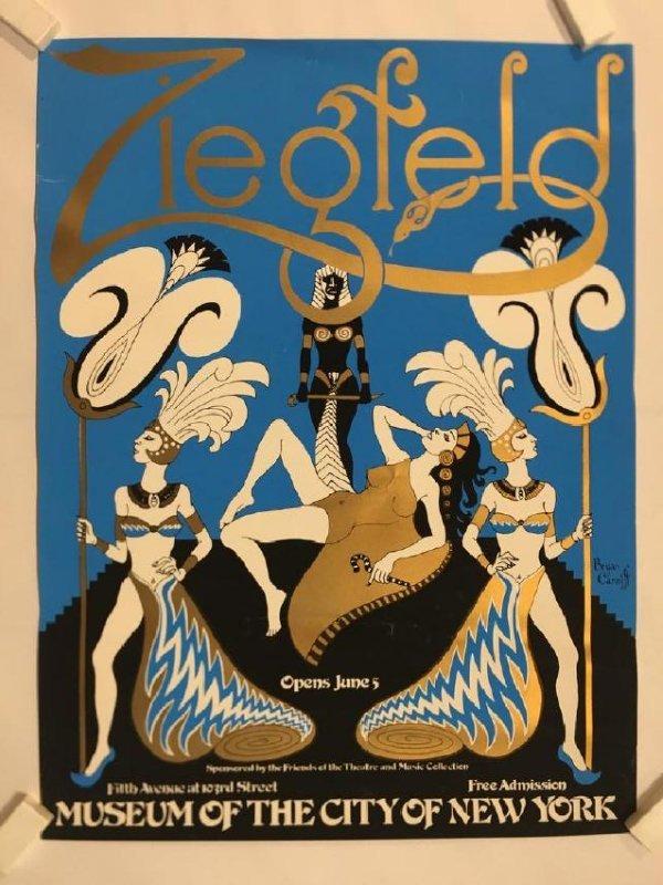 Ziegfeld Original Vintage Art Poster by Bryan Canniff