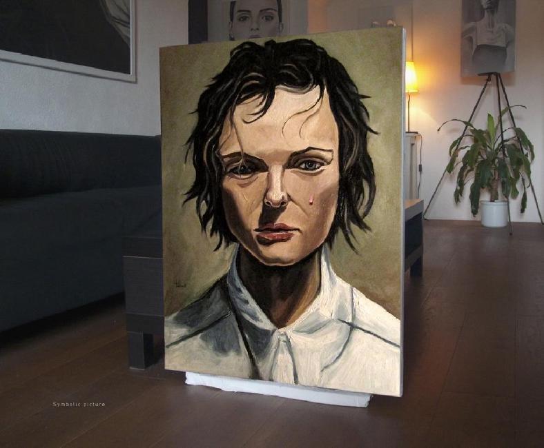 Thomas Pramhas Painting Margaret - 6