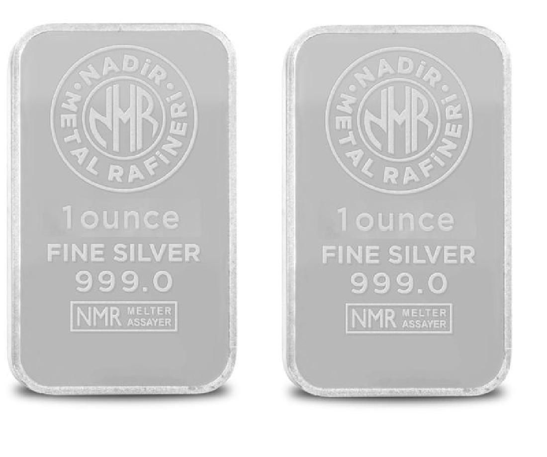 2 x 1 oz. total: 62.2 gr. - 999/1000 - Sealed/ - 2