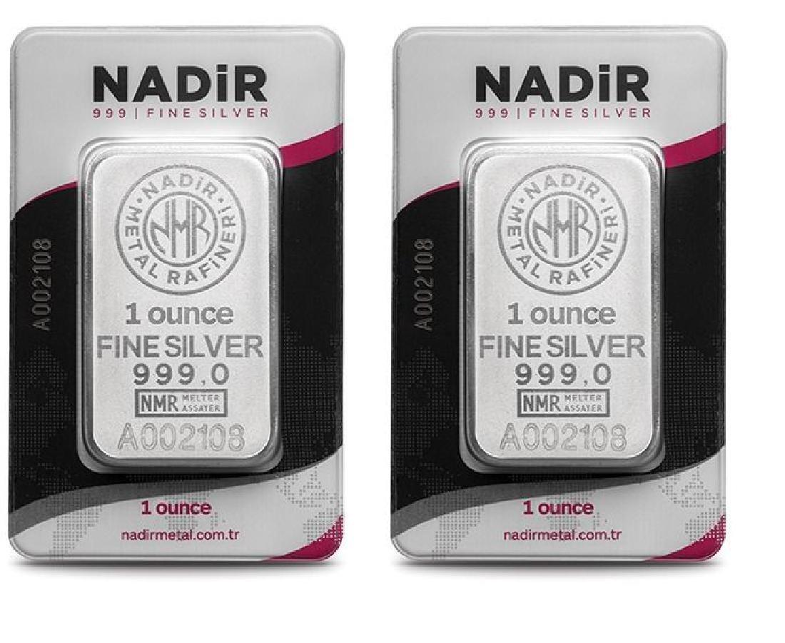 2 x 1 oz. total: 62.2 gr. - 999/1000 - Sealed/