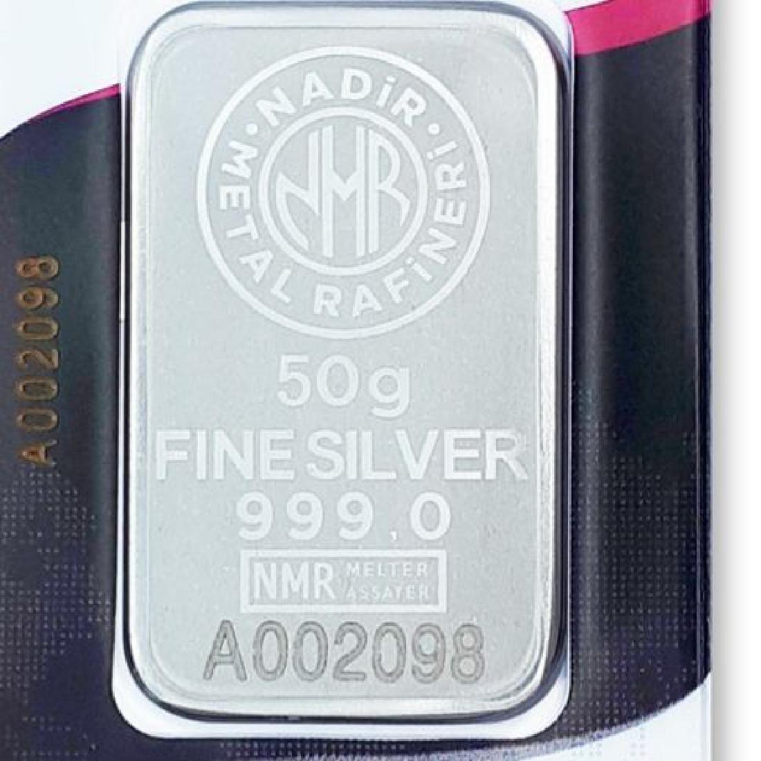 50 gr. - 999/1000 - Minted/ Sealed Silver bar