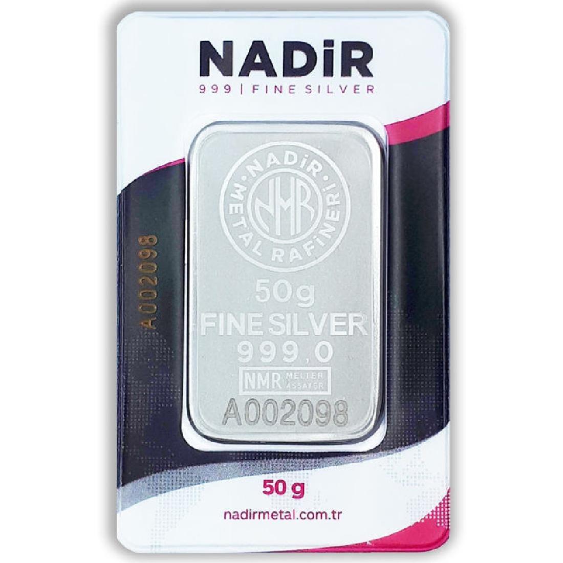 50 gr. - 999/1000 - Minted/ Sealed Silver bar - 3