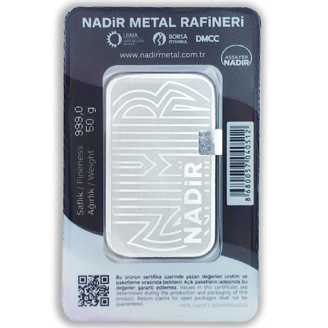 50 gr. - 999/1000 - Minted/ Sealed Silver bar - 4
