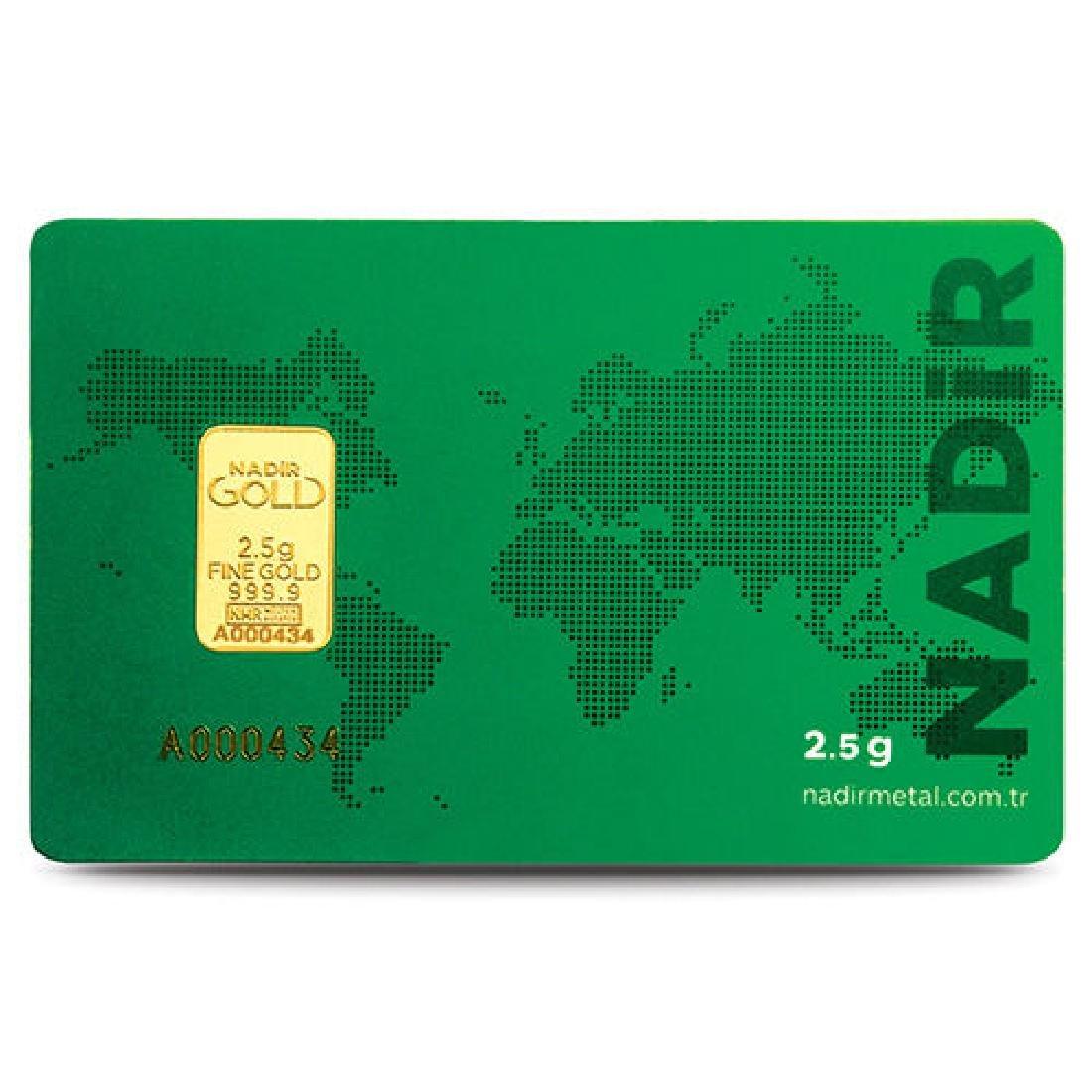 2.5g - 999.9/1000 - Minted/ Sealed Gold Bar - 2