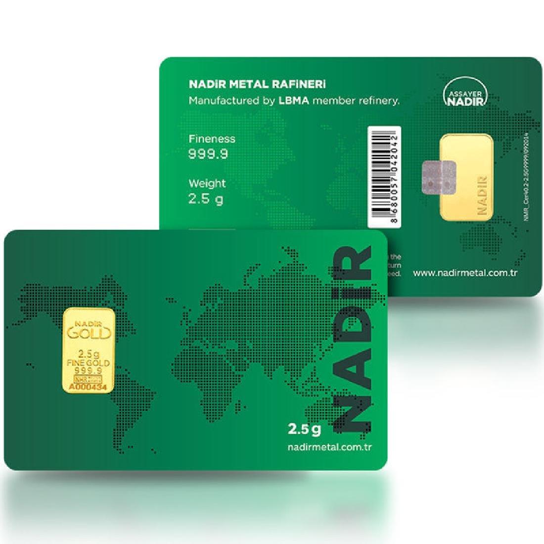 2.5g - 999.9/1000 - Minted/ Sealed Gold Bar - 3