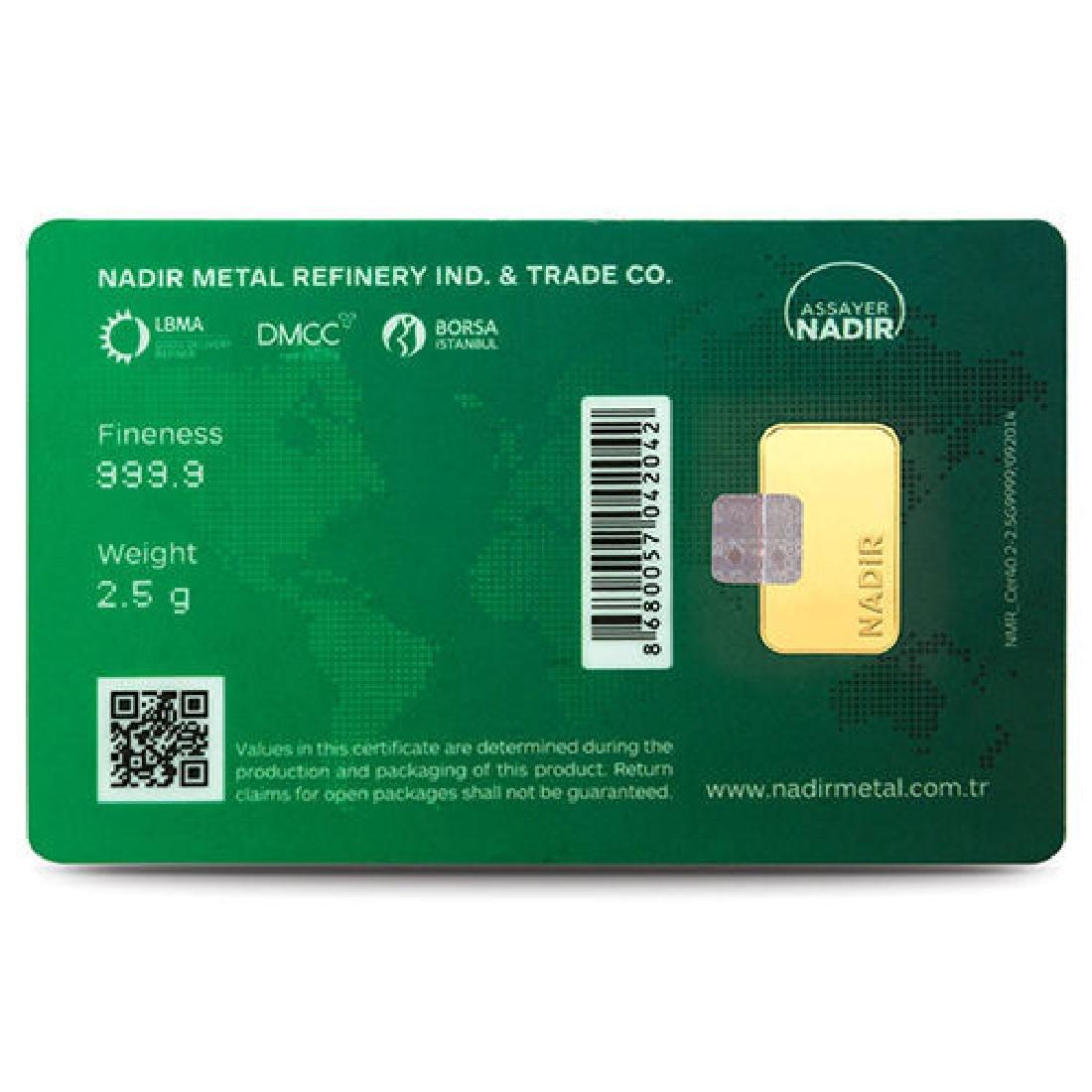 2.5g - 999.9/1000 - Minted/ Sealed Gold Bar - 4