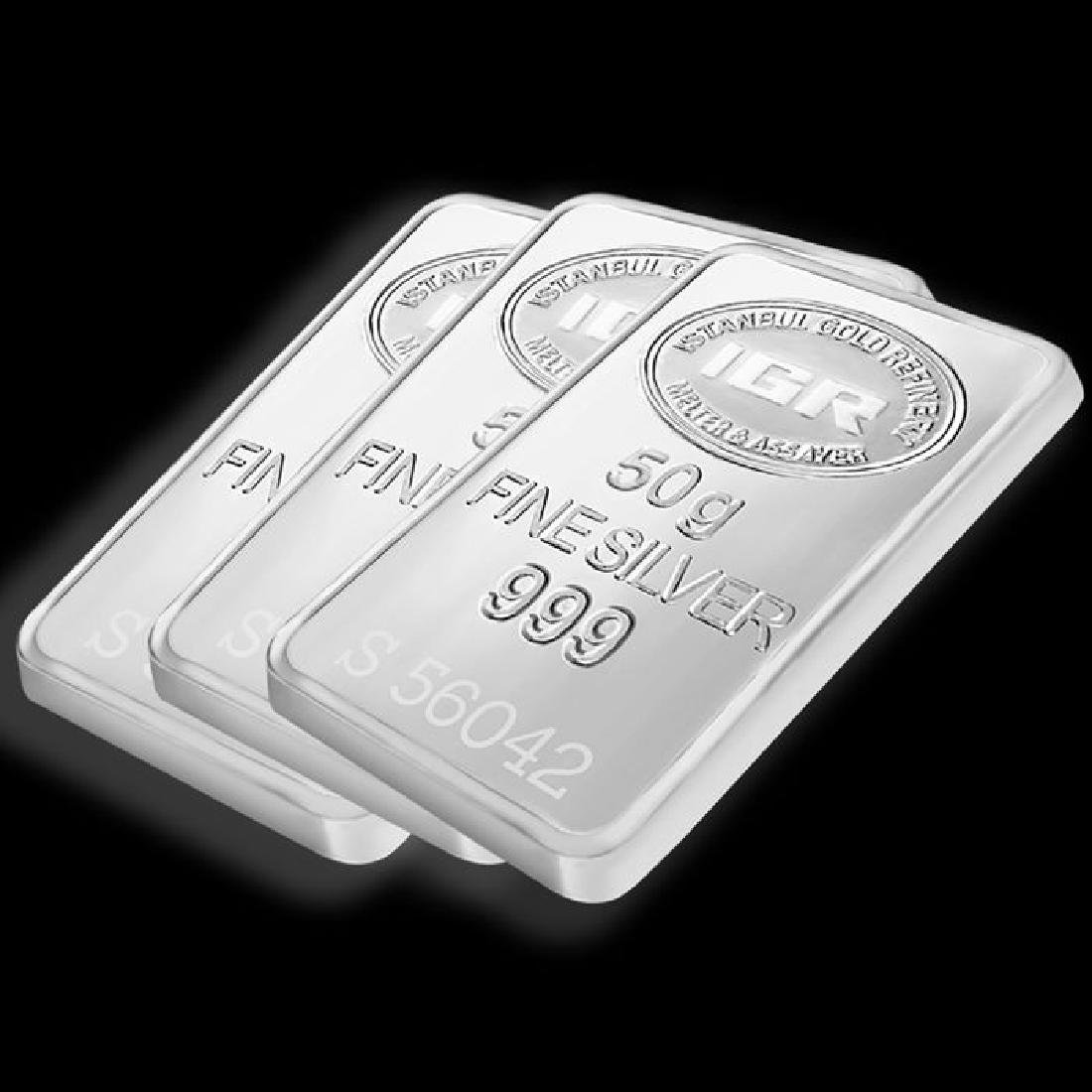 3 x 50 gr. - 999/1000 - Minted/ Sealed silver Bars - 4