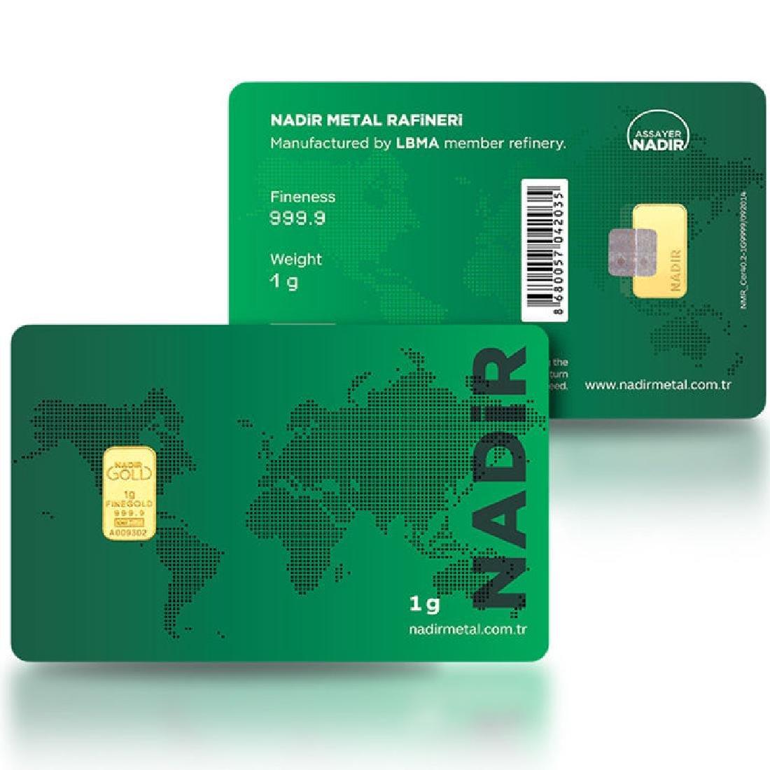 1 gr. - 999.9/1000 - Minted/ Sealed- Gold Bar - 2