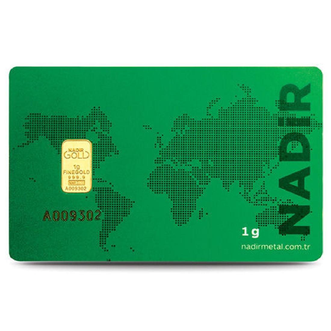 1 gr. - 999.9/1000 - Minted/ Sealed- Gold Bar - 3