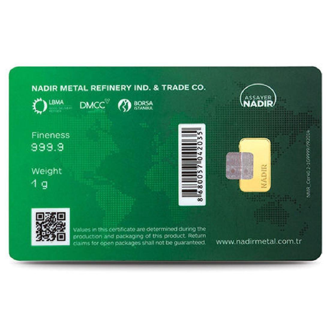 1 gr. - 999.9/1000 - Minted/ Sealed- Gold Bar - 4