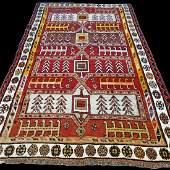 Antique 1800s Tribal Caucasian Kazak Rug 6.9x4.3