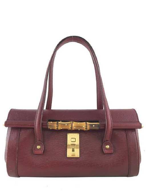 a7ac4e65644 Gucci Leather Bamboo Bullet Bag