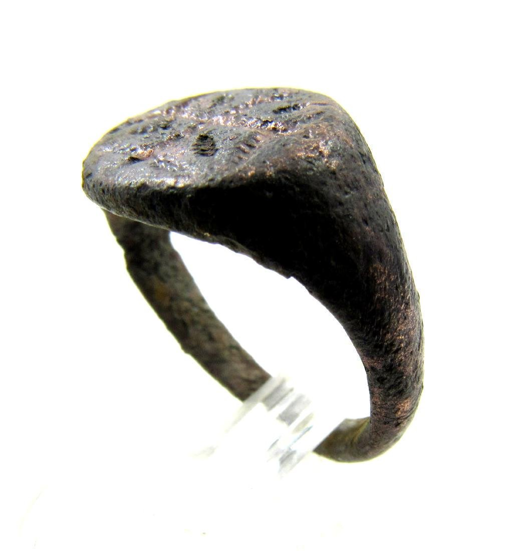 Medieval Crusaders Era Bronze Cross Ring - 2