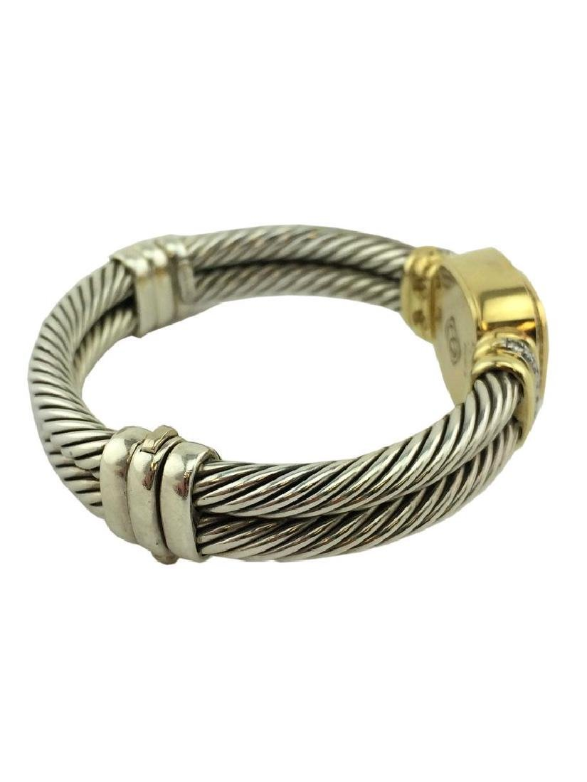 David Yurman Sterling Cable Band 18k Gold Chelsea Watch - 3