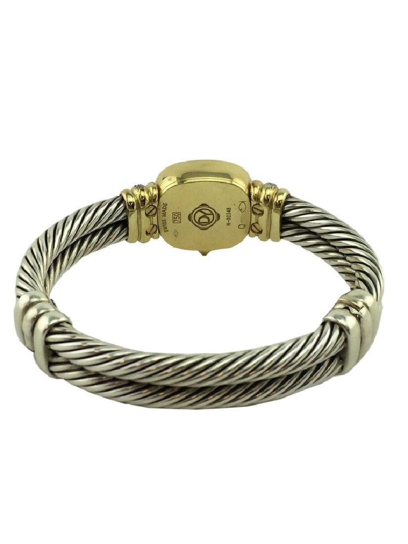 David Yurman Sterling Cable Band 18k Gold Chelsea Watch - 4