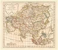 LAsie by Delamarche after Robert de Vaugondy Asia