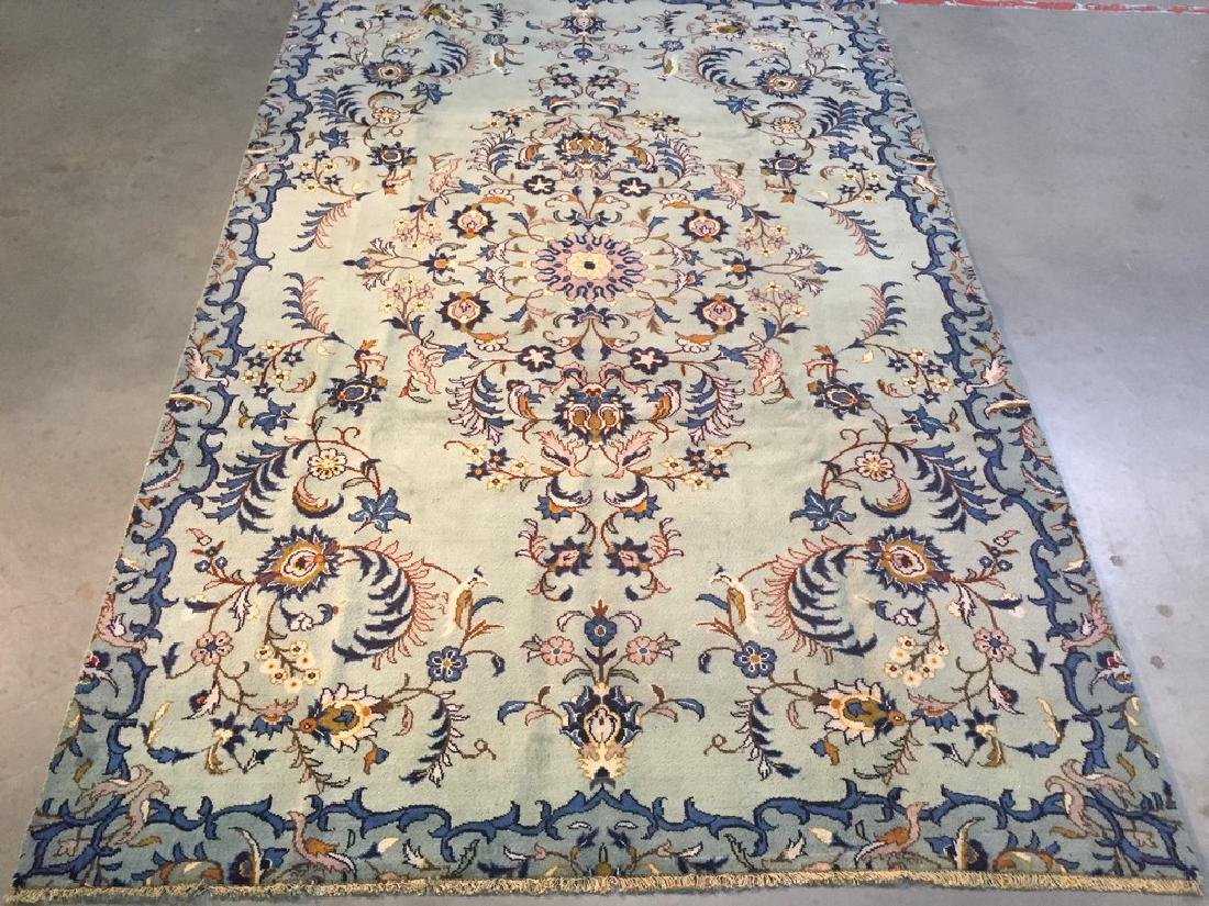 Unique Vintage Persian Kashan Rug 6.7x10.1