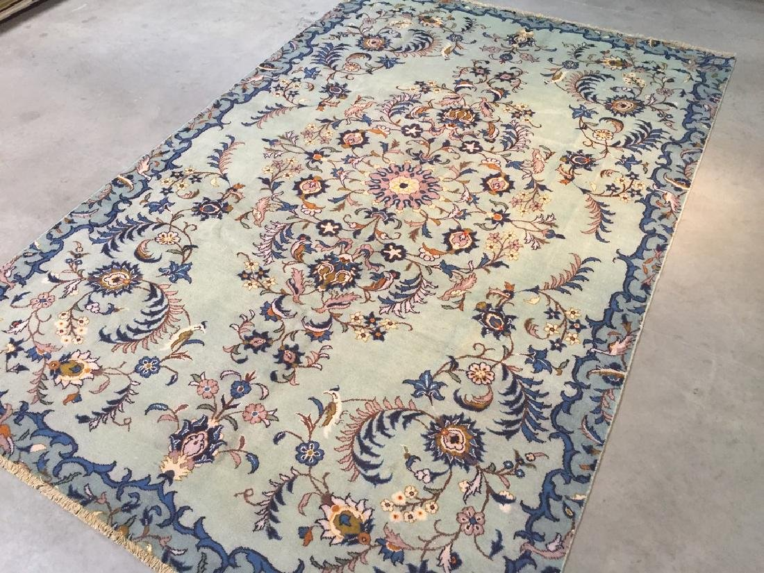 Unique Vintage Persian Kashan Rug 6.7x10.1 - 6