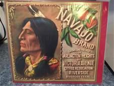 Original Navajo Orange Crate Label